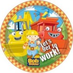 8 x Bob The Builder Paper Party Plates