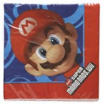 16 x Nintendo Super Mario Brothers Party Napkins