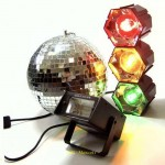 Party DJ Disco Karaoke 3 Piece Light Set, Ball and Strobe- HIRE ONLY
